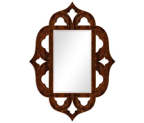 Jonathan Charles - Rustic Walnut Mirror - 495336-RWL