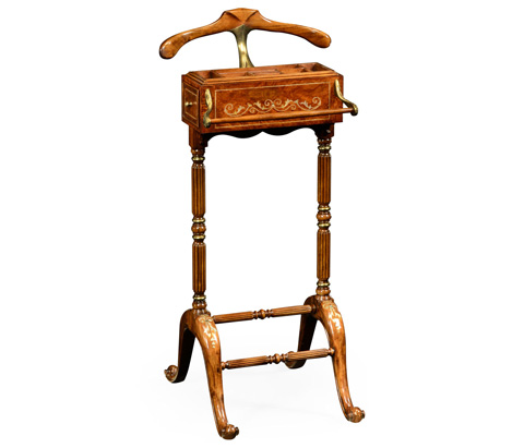 Jonathan Charles - Burl and Mother Of Pearl Valet Stand - 499201
