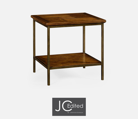 Jonathan Charles - Country Walnut Square End Table - 491002-CFW