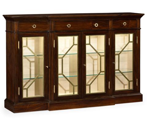 Jonathan Charles - Four Door Breakfront Display Cabinet - 495415-DST