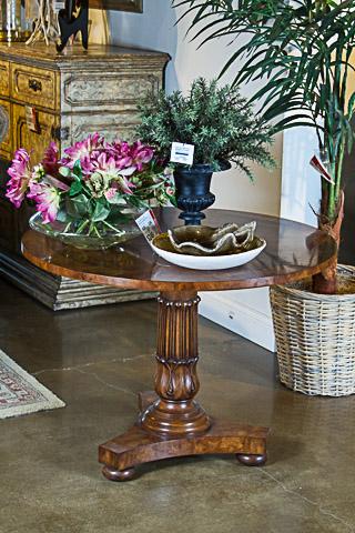 Karges Furniture - Dover Mahogany Velvet Rub Lamp Table - 210