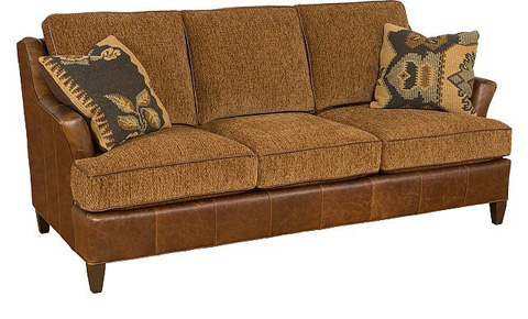 King Hickory - Melrose Leather/Fabric Sofa - 1450-LF