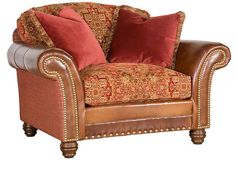 King Hickory - Katherine Leather/Fabric Chair & 1/2 - 9701-LF