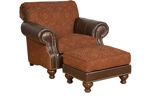 King Hickory - Lana Leather and Fabric Arm Chair - 57251-LF