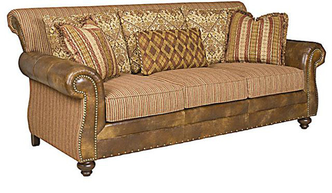 King Hickory - Coffee House Leather and Fabric Sofa - 57350-LF