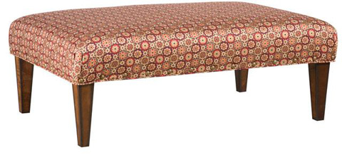 King Hickory - Moderne Fabric Ottoman - W-007-3048