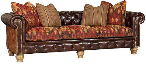 King Hickory - Empire Leather/Fabric Sofa - 2900-LF