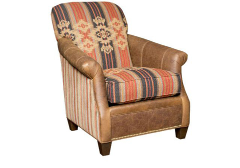 King Hickory - Frisco Leather Fabric Chair - C32-01-LF