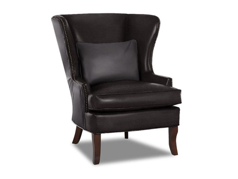 Klaussner Home Furnishings - Krauss Chair With Leather - LD9410 C