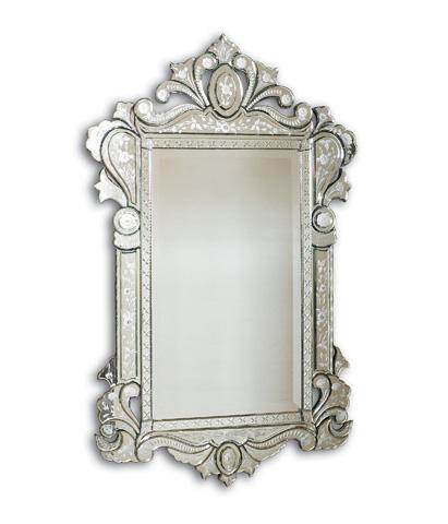 La Barge - Shaped Venetian Glass Mirror - LM1973