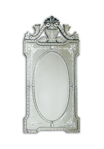 La Barge - Shaped Venetian Glass Mirror - LM1982