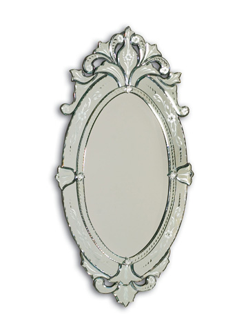 La Barge - Shaped Venetian Glass Mirror - LM2027