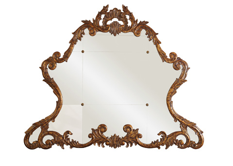La Barge - Carved Acanthus Leaf Gold Gilded Mirror - LM2335