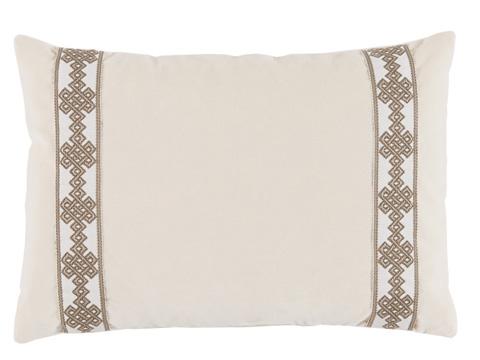Lacefield Designs - Neutral Velvet Lumbar Throw Pillow - D1010