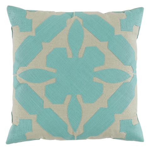 Lacefield Designs - Seafoam Applique Throw Pillow - D1021