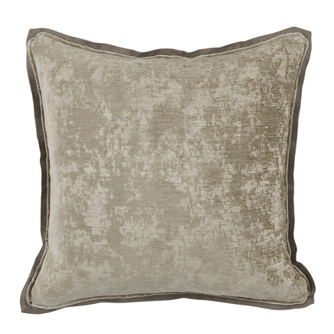 Lacefield Designs - Neutral NickelAntiqued Chenille Throw Pillow - D1050