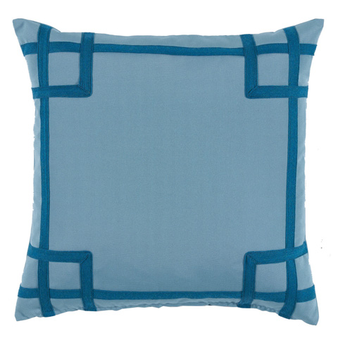 Lacefield Designs - Blue TonalCorner Tape Print Outdoor Pillow - OUT04