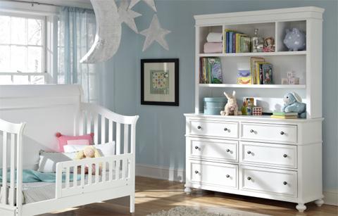 Legacy Classic Furniture - Nursery Dresser with Hutch - 2830-1100/7201