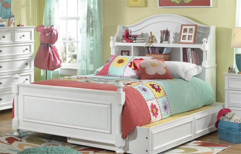 Legacy Classic Furniture - Full Bookcase Bed with Storage Drawer - 2830-4804K/9300