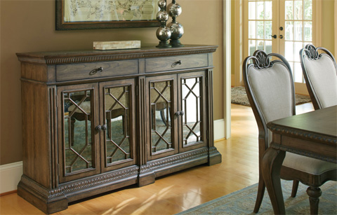 Legacy Classic Furniture - Credenza with Marble Inlay - 5500-151