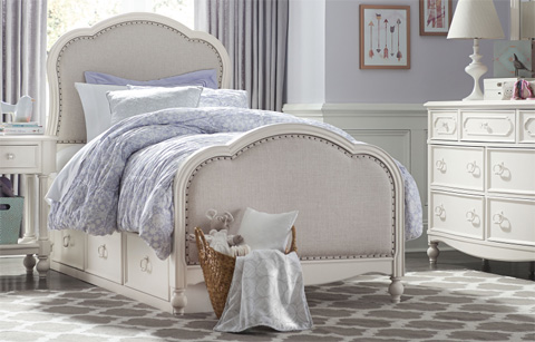 Legacy Classic Furniture - Twin Victoria Upholstered Panel Bed - 4910-4803K