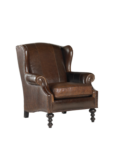 Tommy Bahama - Batik Leather Wing Chair - LL7155-11