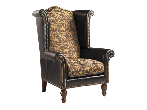 Lexington Home Brands - Kings Row Leather Wing Chair - LL7760-11