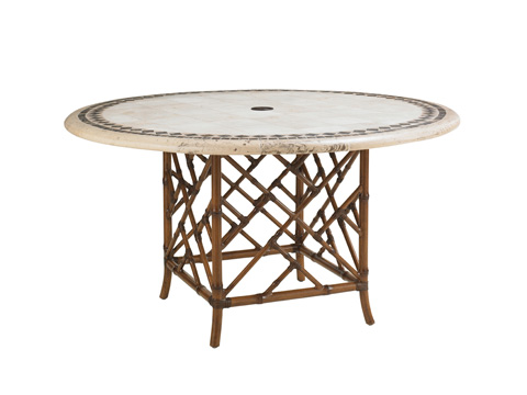 Tommy Bahama - Outdoor Dining Table with Stone Top - 3160-870TBL