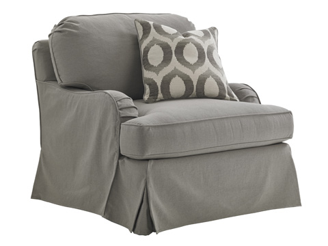 Lexington Home Brands - Stowe Chair with Gray Slipcover - SC7476-11GY