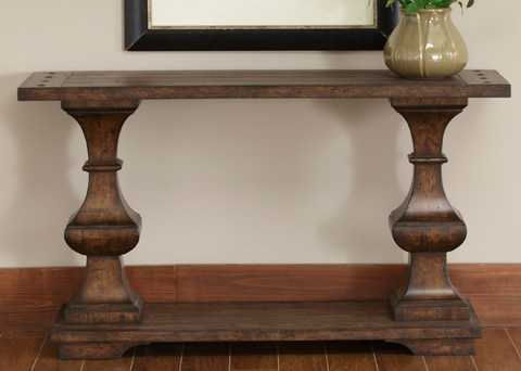 Liberty Furniture - Spanish Planked Sofa Table - 231-OT1030