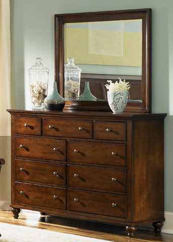Liberty Furniture - Nine Drawer Dresser - 341-BR32