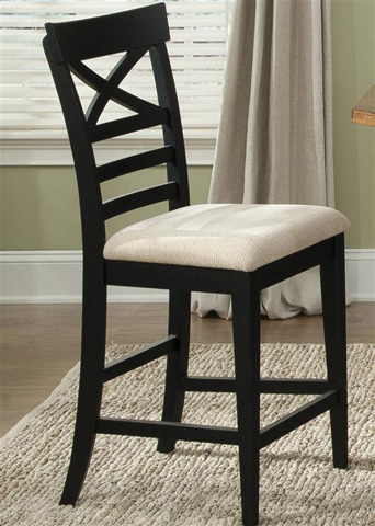 Liberty Furniture - X Back Counter Chair in Black - 482-B300024