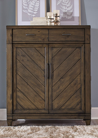 Liberty Furniture - Two Door, Two Drawer Chest - 833-BR42