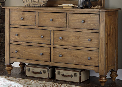 Liberty Furniture - Seven Drawer Dresser - 918-BR31