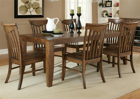Liberty Furniture - Rectangular Leg Dining Table - 92-T4082