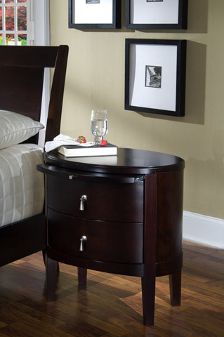 Ligna Furniture - Two Drawer Oval Nightstand - 6622