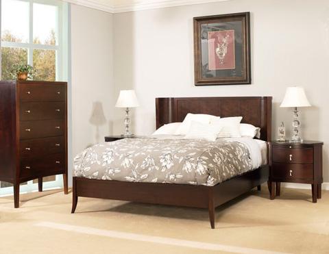 Ligna Furniture - Queen Crescent Bed - 6637HF
