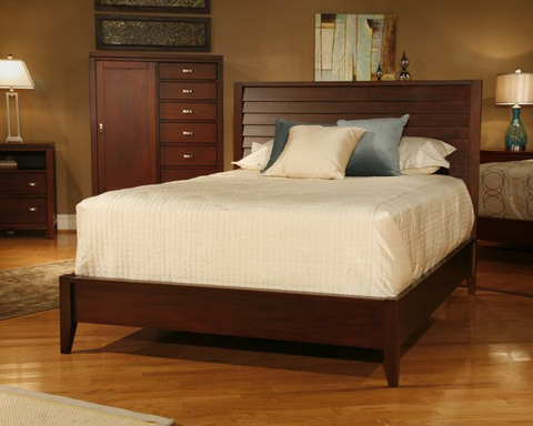 Ligna Furniture - Queen Louvered Bed - 6837HF