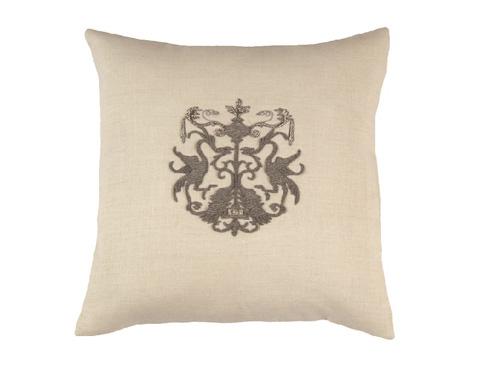 Lili Alessandra - Crest Square Pillow - L1426WH