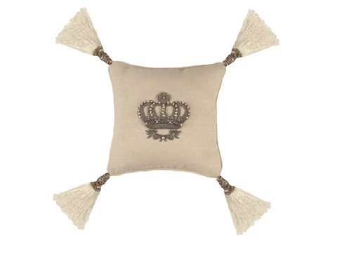 Lili Alessandra - Imperial Crown Small Square Pillow - L320WHS
