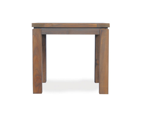 Lloyd Flanders - Antiqued Teak Square End Table - 286043