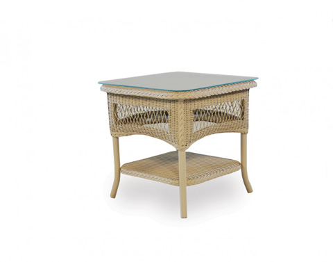 Lloyd Flanders - End Table with Lay on Glass - 66143