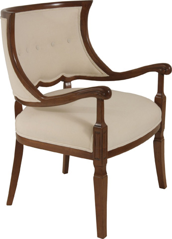 Lorts - Exposed Wood Accent Chair - 863