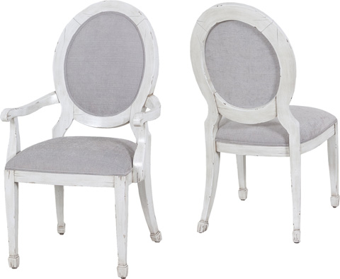 Lorts - Round Back Arm Chair - 9784