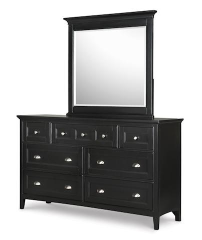 Magnussen Home - Southampton Black Double Dresser with Mirror - B1399-22/40