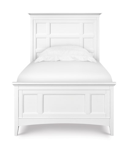 Magnussen Home - Kenley White Panel Bed - Y1875 PANEL