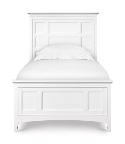 Magnussen Home - Kenley White Panel Bed with Storage Siderails - Y1875 PANELSTORAGE