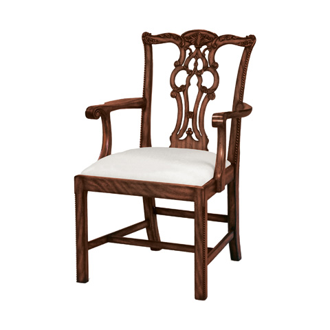 Maitland-Smith - Fiddle Back Arm Chair - 4130-596