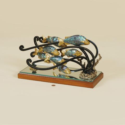 Maitland-Smith - School of Cast Brass Fish - 1051-138