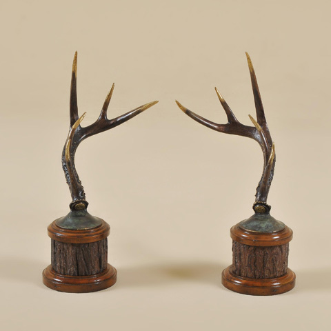 Maitland-Smith - Pair of Brass Antlers - 1054-202
